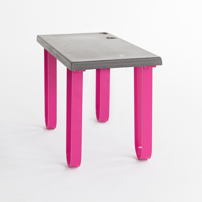Concrete and Steel Coffee Table by Mark Maurice